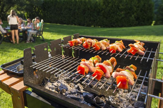 OZAVO Plancha Revêtement Barbecue de Table Électri...